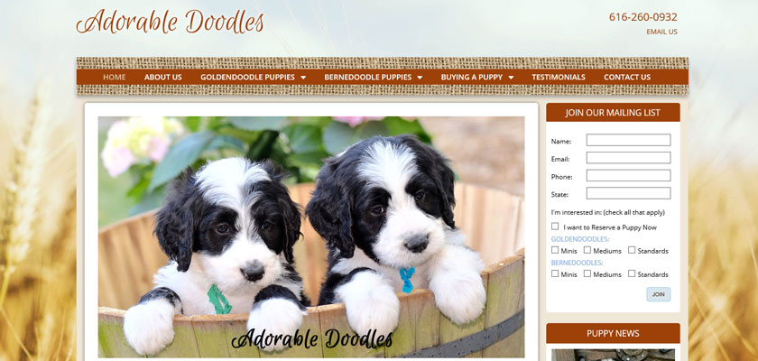 dog breeder websites with great search rankings