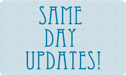 smae day updates for your dog breeding website